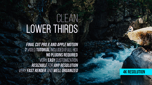 Clean lower thirds for final cut pro x by joelstarling for Final cut pro lower thirds templates