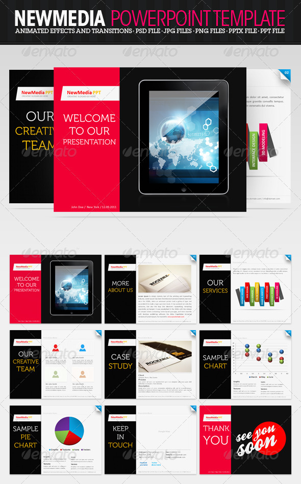 GraphicRiver NewMedia PowerPoint Presentation 522792