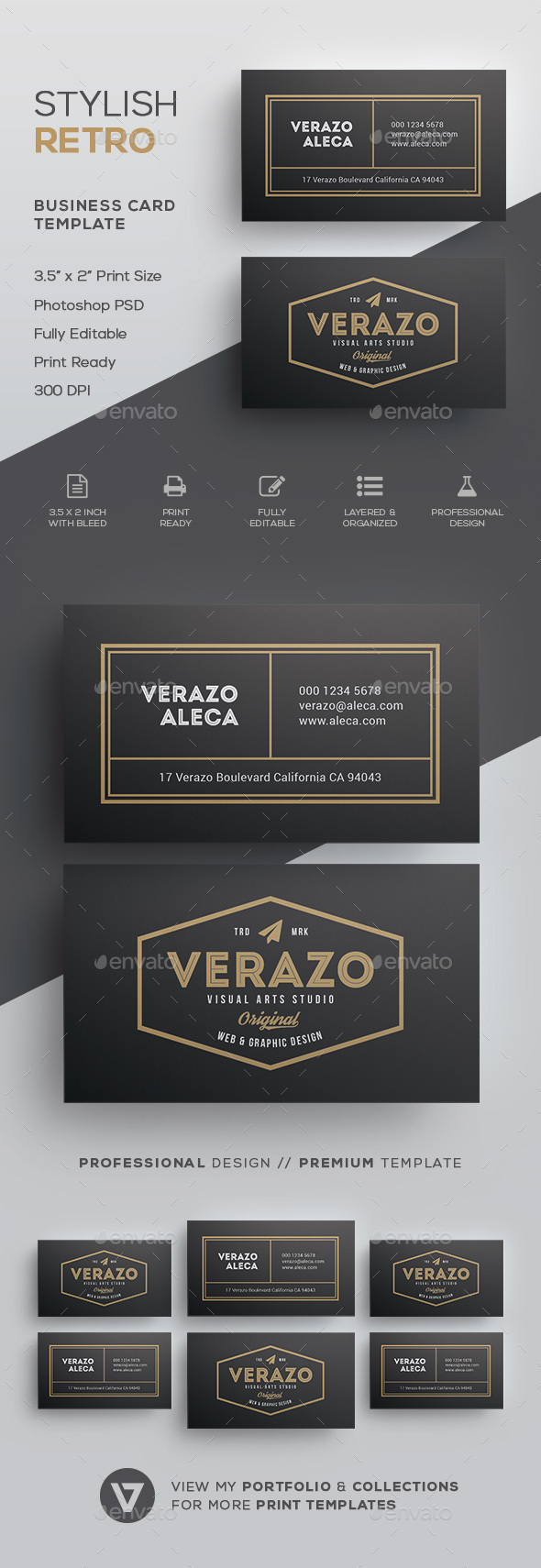 Vintage business card templates designs from graphicriver wajeb