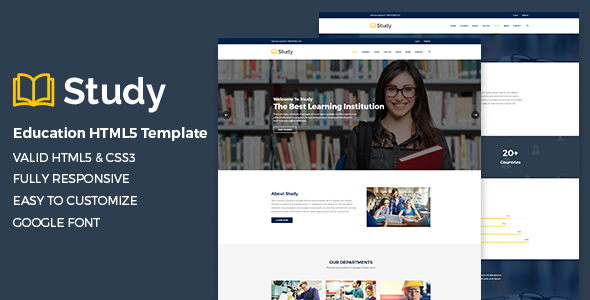 Study – Education HTML5 Template