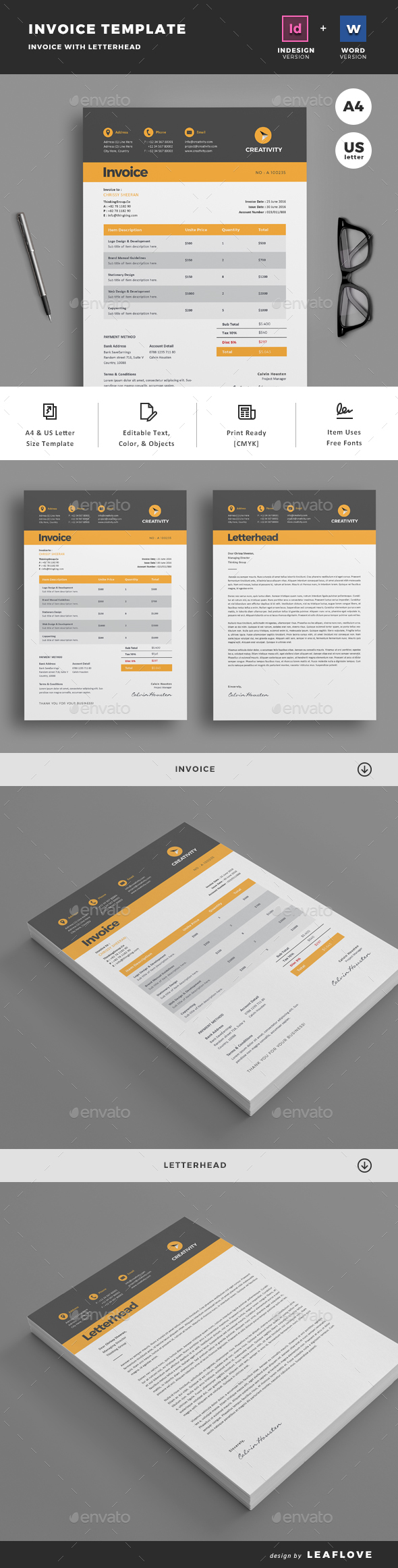 business proposal & invoice templates from graphicriver, Invoice templates