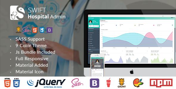 Swift Hospital - Responsive Material Admin for Doctors & Hospitals