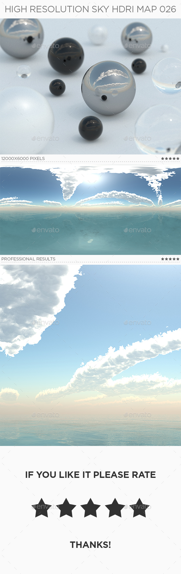 High Resolution Sky HDRi Map 026 - 3DOcean Item for Sale