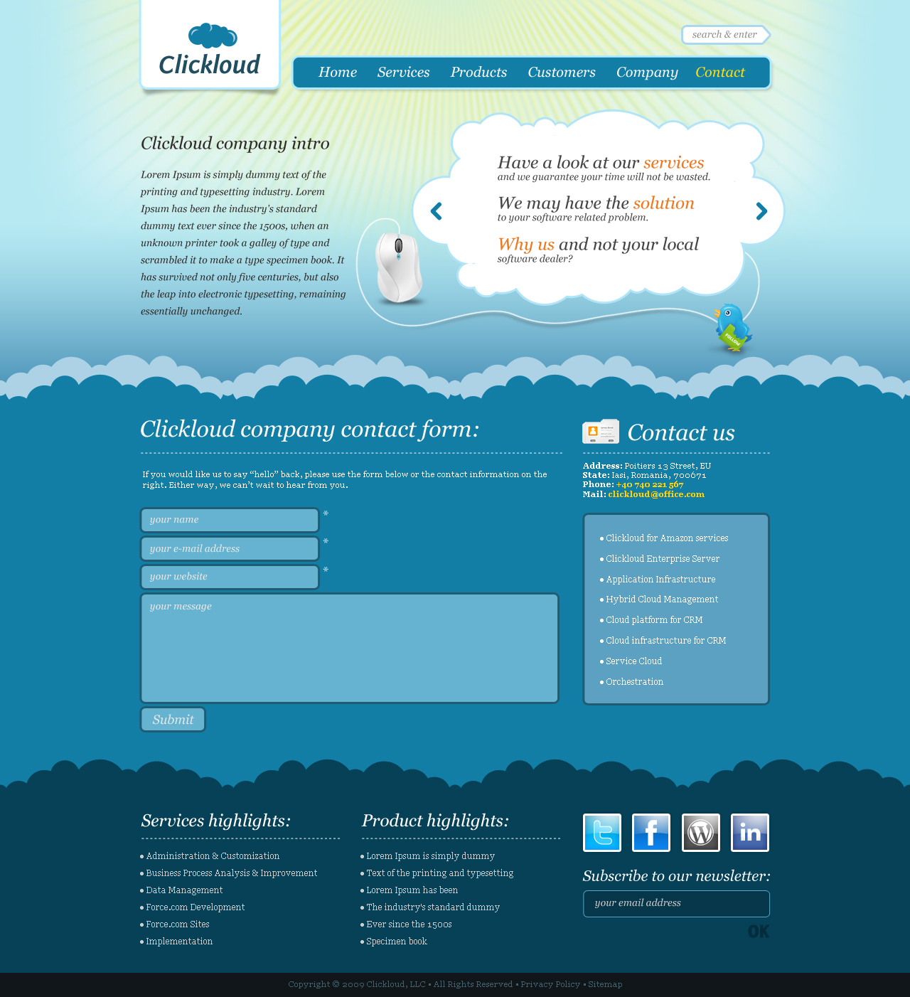 Clickloud Web 2.0 Business Template