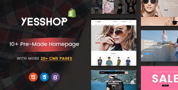YESSHOP - Drag & Drop, Dynamic Responsive Shopify Theme - Ultimate Fashion, Supermarket, Minimal