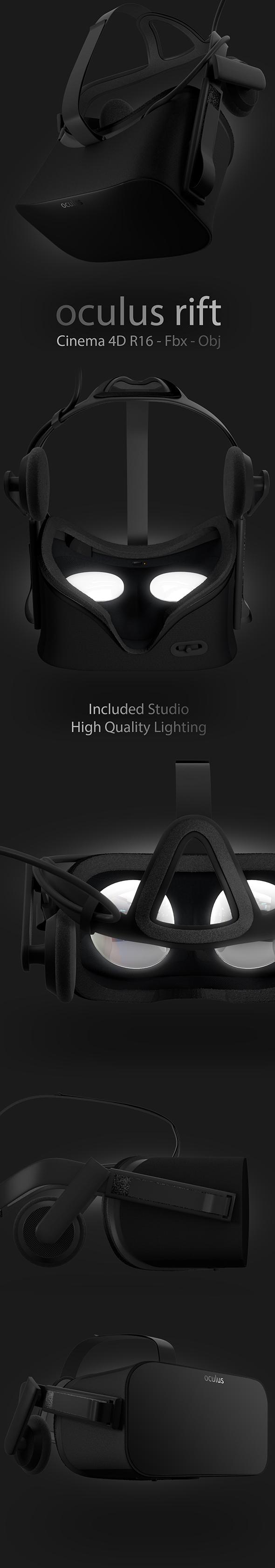 Oculus Rift Headset Model - 3DOcean Item for Sale