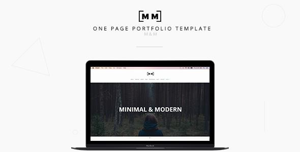 M&M -- Minimal & Creative Responsive Portfolio