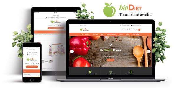 BioDiet – Nutrition & Weight Loss WordPress Theme (Health & Beauty) images