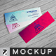 Realistic Micro Business Card Mockup