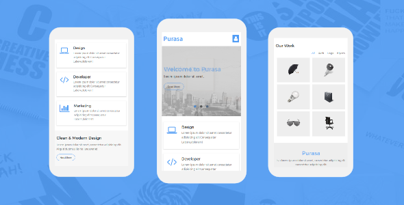 Purasa – Responsive Mobile Template