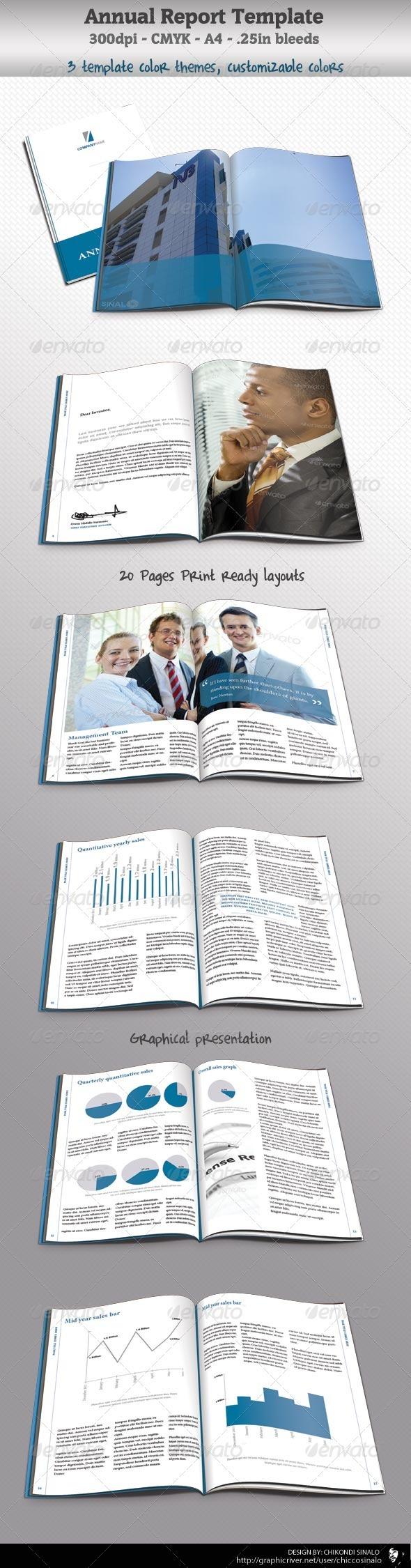 Corporate Annual Report Template - Corporate Brochures