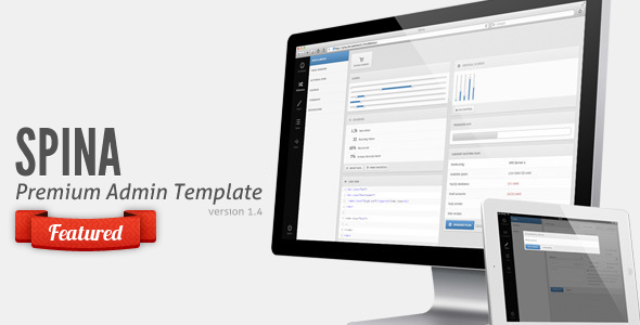 Spina - Premium Admin Template + Tablet Theme