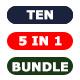 Bundle - Ten Photoshop Actions 5 in 1