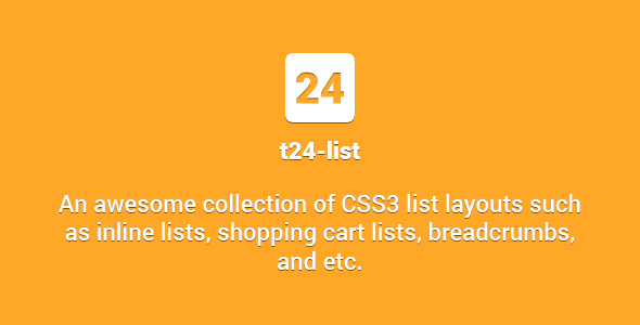 t24-list - Awesome Collection of CSS3 List Layouts - CodeCanyon Item for Sale