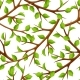 Summer Seamless Pattern with Branches of Tree and
