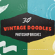 30 Vintage Ink Doodles Photoshop Brushes