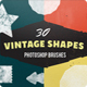 30 Vintage Ink Shapes Photoshop Brushes