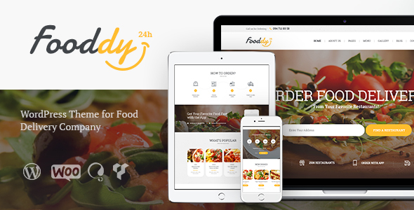 Food Delivery Templates from ThemeForest