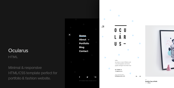 Ocularus - Minimal Photography Html Template