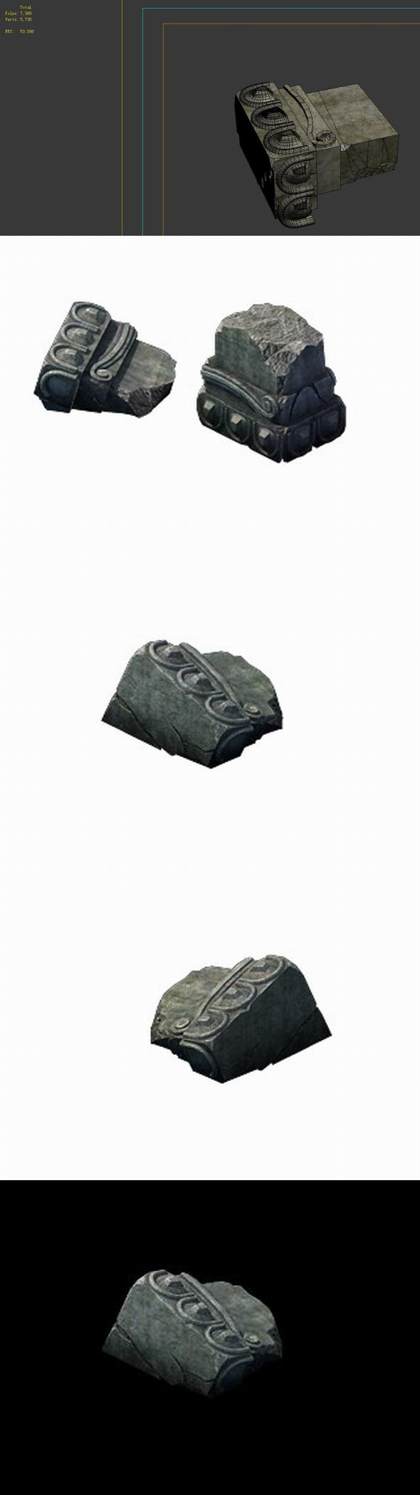Game Model - Broken Stones 04 - 3DOcean Item for Sale