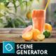 Organic Juice Mockup & Hero Image Scene Generator
