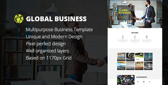 GB - Business, Corporate, Portfolio html Template