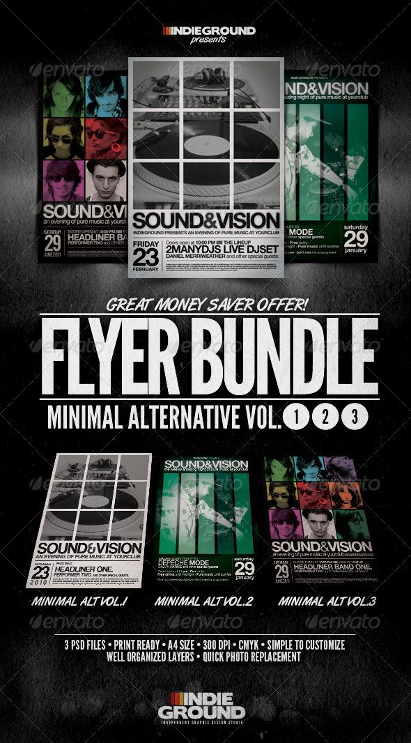 GraphicRiver Minimal Alternative Flyer Poster Bundle Vol 1-3 243900
