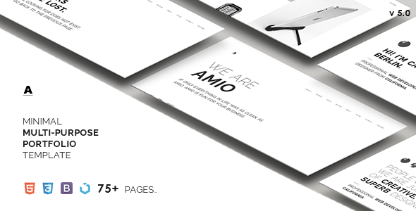 Amio – Minimal Multi-Purpose Portfolio Template