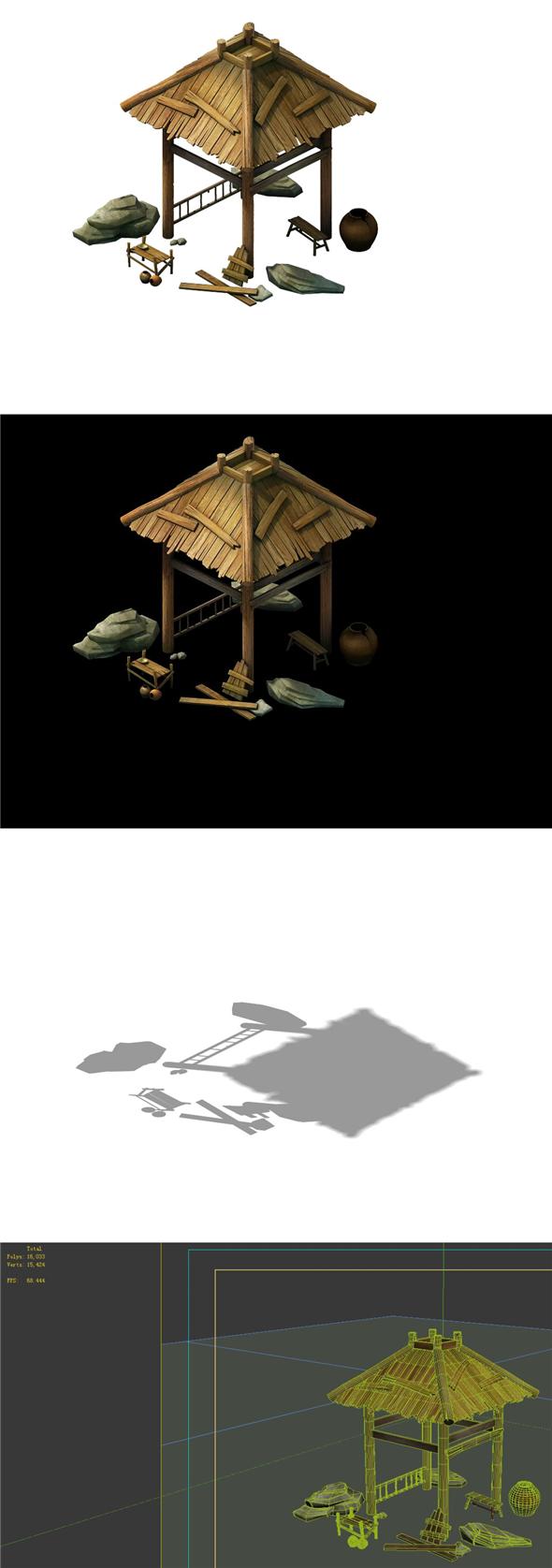 Game Models - City Gazebo 06 - 3DOcean Item for Sale