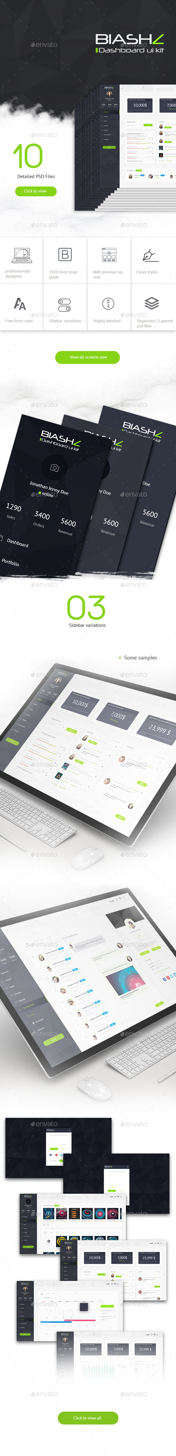 Blashz Dashboard UI Kit (User Interfaces)