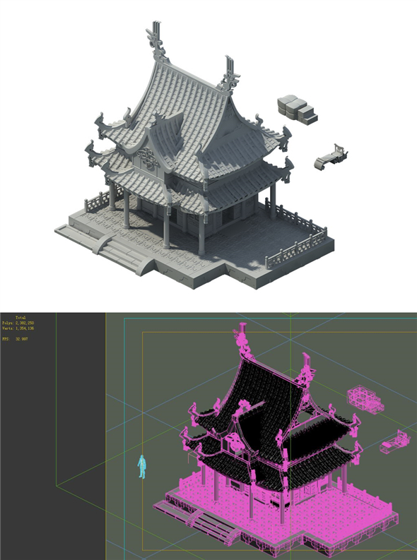 Game Model - Urban Architecture - 3DOcean Item for Sale