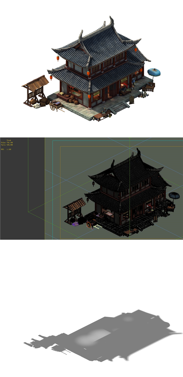 Game Model - City Building Grocery Store - 3DOcean Item for Sale