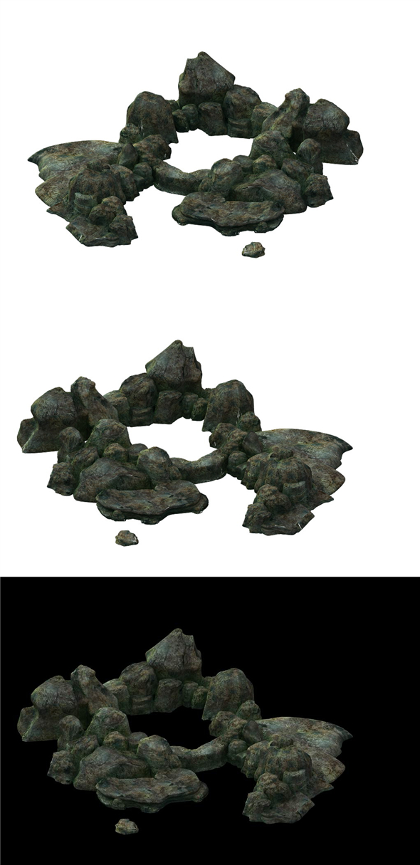 Game model - the size of stone dry grove - 3DOcean Item for Sale