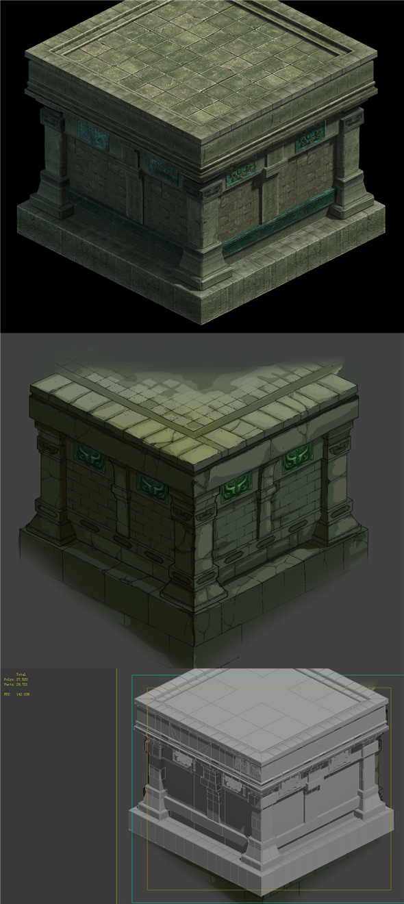 Game model - Underground platform connected to the base platform - 3DOcean Item for Sale