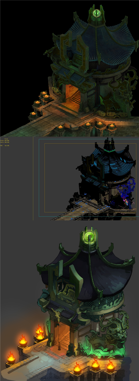 Game model - the entrance to the underground palace - 3DOcean Item for Sale