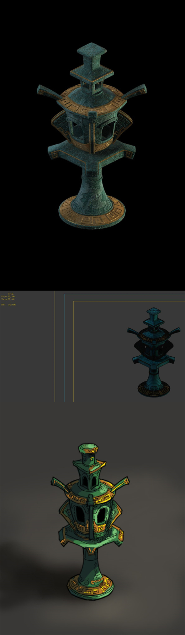 Game Model - Design of Palace Lamp in - 3DOcean Item for Sale
