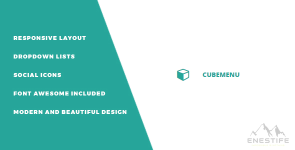 Enestife - Cube Menu Responsive