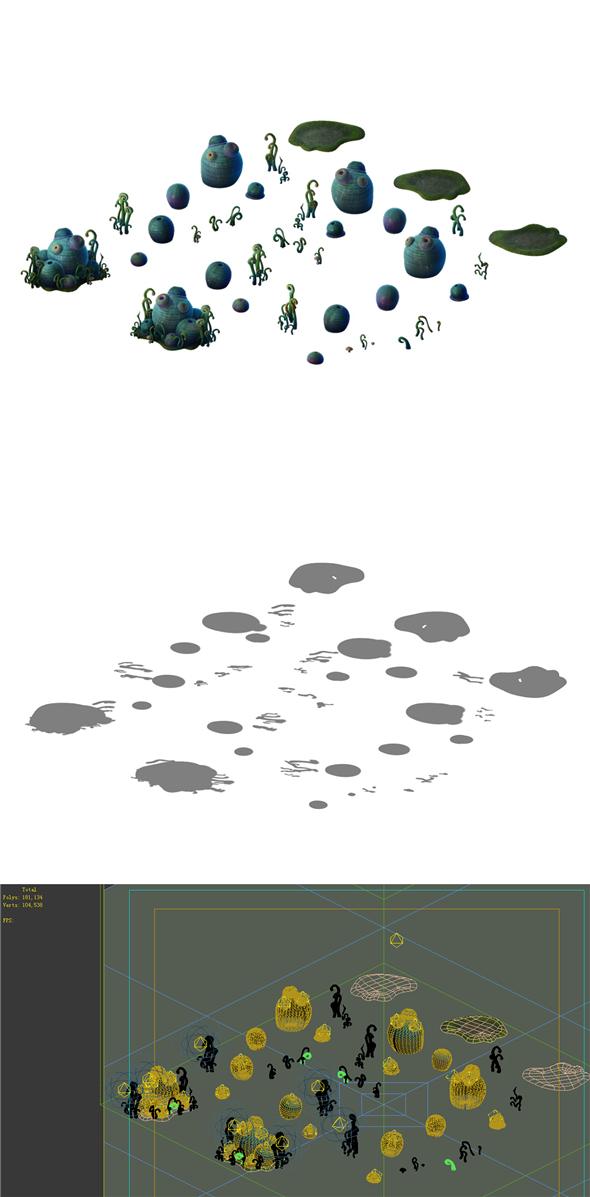 Game Models - poison Valley Scene - hemlock Cong 03 - 3DOcean Item for Sale