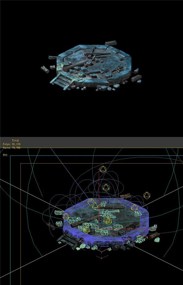 Game Model - Ruins - 3DOcean Item for Sale