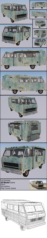 Car Journey - GTA V ( Full texture & edition ) - 3DOcean Item for Sale