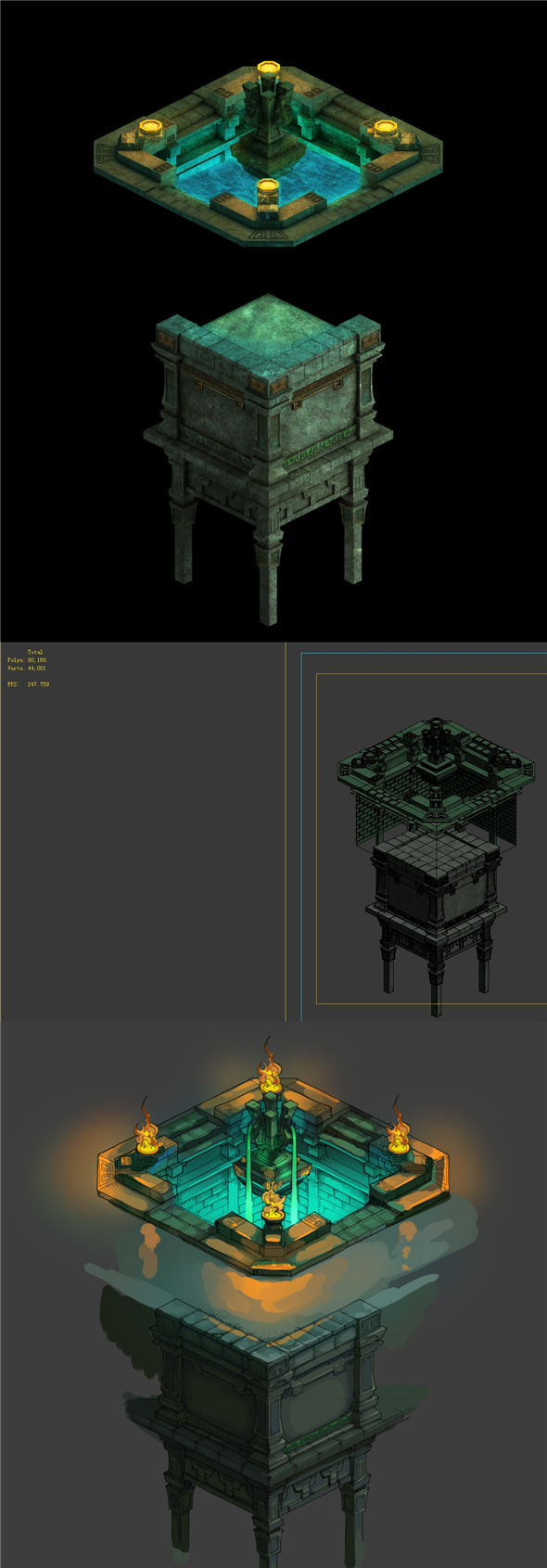 Game model - Palace Square - 3DOcean Item for Sale