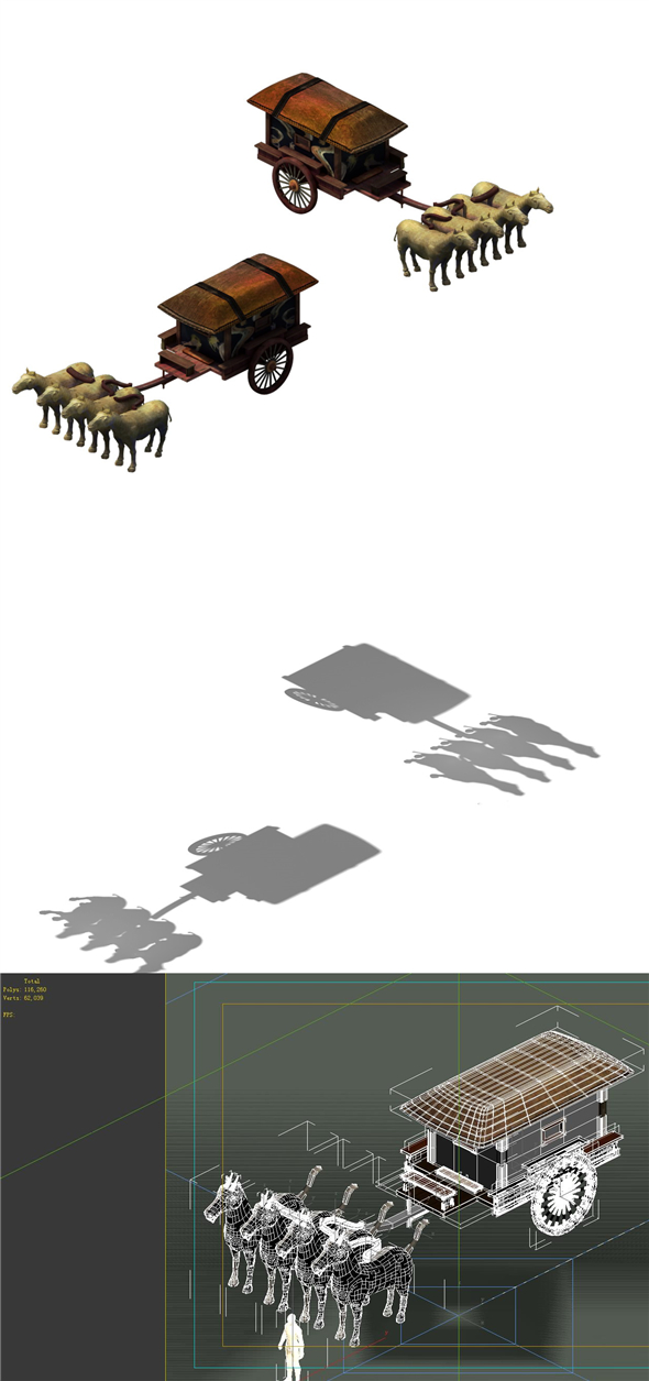 Game model - the ancient emperors of the carriage - 3DOcean Item for Sale