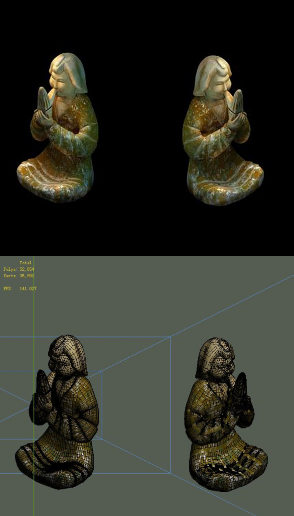 Game Model - Tomb Objects People stone carving - 3DOcean Item for Sale