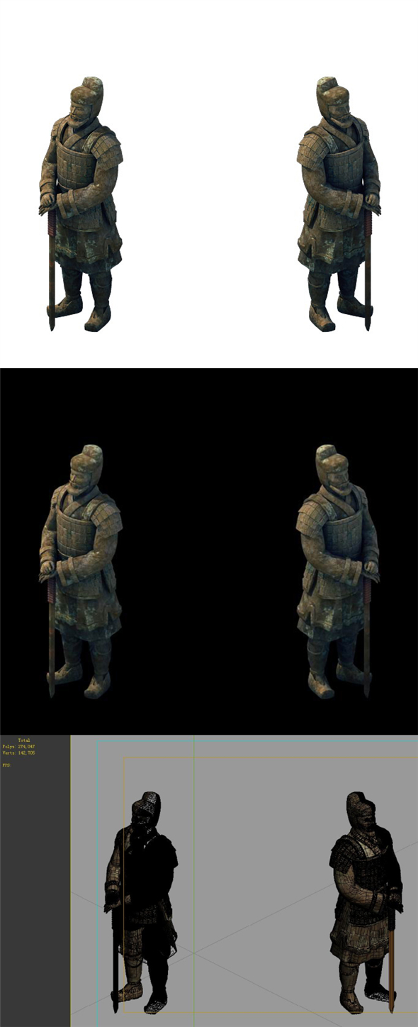 Game Model - Tomb of the Terracotta Warriors 02 - 3DOcean Item for Sale