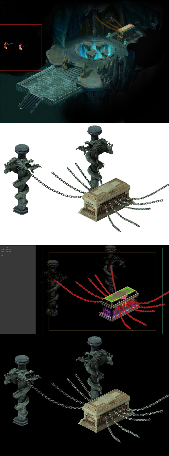 Game model - the tomb of the chain locked in the sarcophagus - 3DOcean Item for Sale