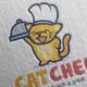 cat chef logo design