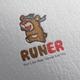 Runner Bear Logo Design