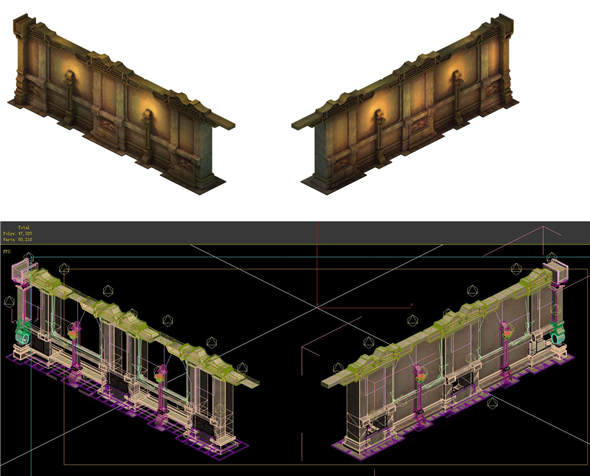Game Model - Ancient tomb wall 013 - 3DOcean Item for Sale