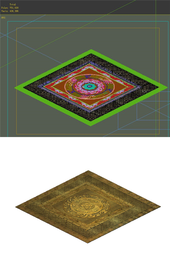 Game Model - Tombstone carved stone carved surface - 3DOcean Item for Sale