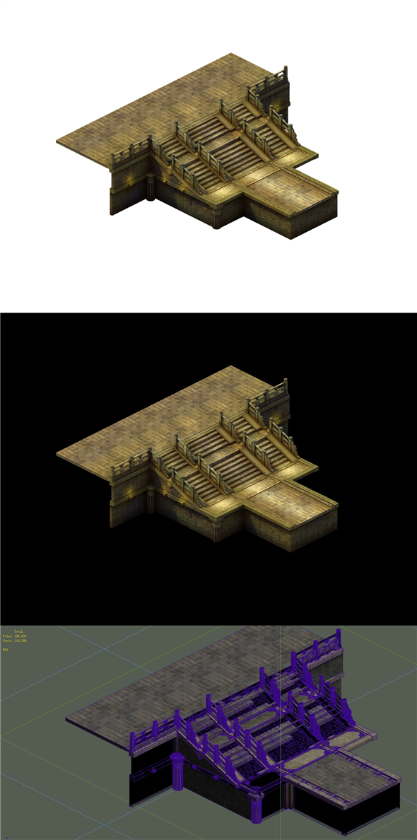 Game Model - Tombstone Stairs 02 - 3DOcean Item for Sale